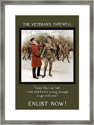 A Veteran's Farewell - Ww1 Framed Print