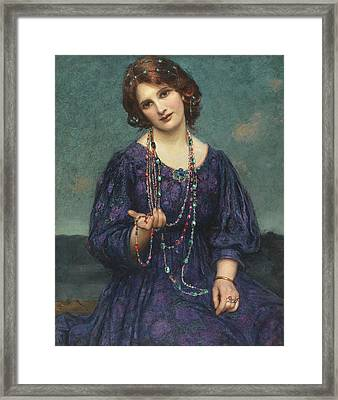 A Viennese Memory  Framed Print by Thomas Edwin Mostyn