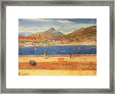 A View Across The Water Framed Print by Diario or Dario de Regoyos y Valdes