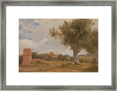 A View At Girgenti In Sicily With The Temple Of Concord And Juno Framed Print by Charles Lock Eastlake