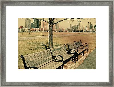 A View From A Park Bench Framed Print by JAMART Photography