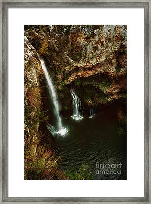A View From Above The Falls II Framed Print by Tamyra Ayles
