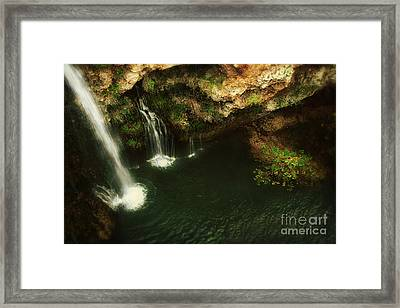 A View From Above The Falls Framed Print by Tamyra Ayles