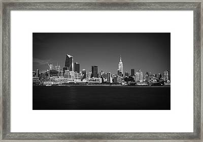 Framed Print featuring the photograph A View From Across The Hudson by Eduard Moldoveanu