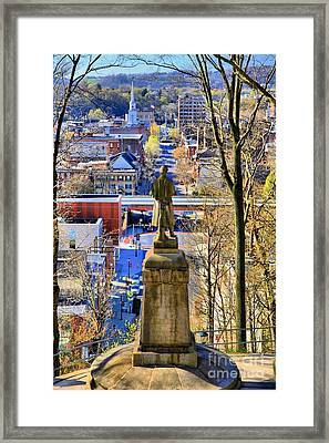 A View From College Hill Framed Print