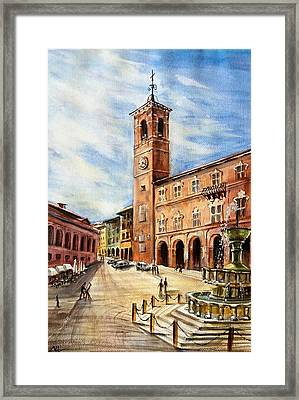 A View From Fabriano Framed Print