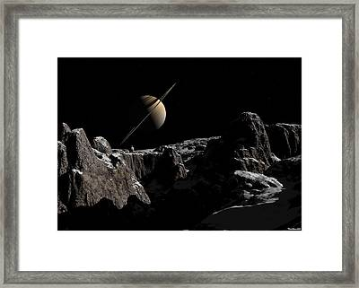 A View From Iapetus Framed Print