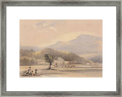 A View From Our Window At Tyn Y Cellyn Framed Print by George Bryant
