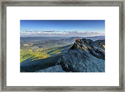 Framed Print featuring the photograph A View From The Cliffs by Lori Coleman