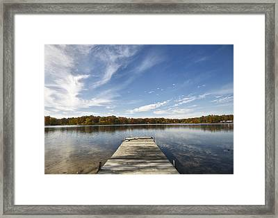 A View From The Dock Framed Print