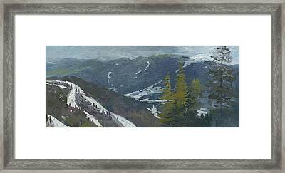 A View From The Mountain Bukovel 2011  Framed Print by Denis Chernov