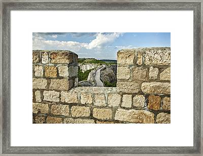A View From The Past Framed Print