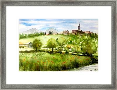 A View From Tuscany Framed Print