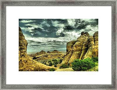 A View In Arches National Park Framed Print