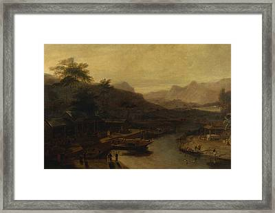 A View In China - Cultivating The Tea Plant Framed Print