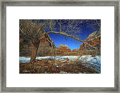 A View In Zion Framed Print by Christopher Holmes