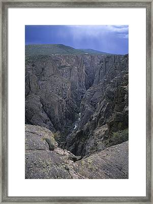 A View Into The Deep Chasm Framed Print