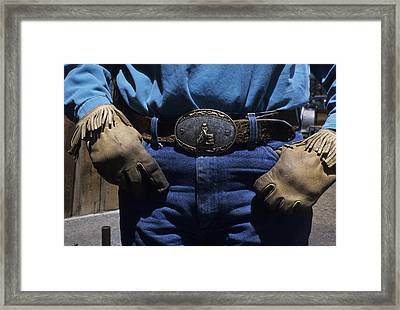 A View Of A Cowboys Prized Possesion Framed Print by Taylor S. Kennedy