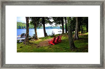 Framed Print featuring the photograph A View Of Big Moose Lake by David Patterson