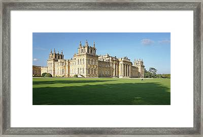 Framed Print featuring the photograph A View Of Blenheim Palace by Joe Winkler