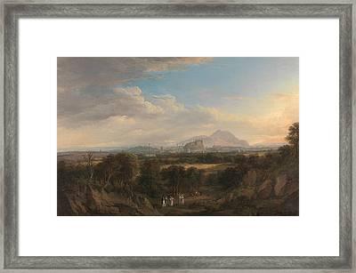 A View Of Edinburgh From The West Framed Print by Alexander Nasmyth