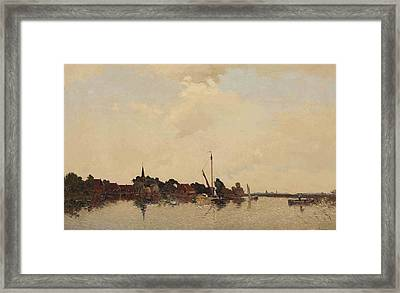 A View Of Eernwoude Framed Print by Egnatius Ydema