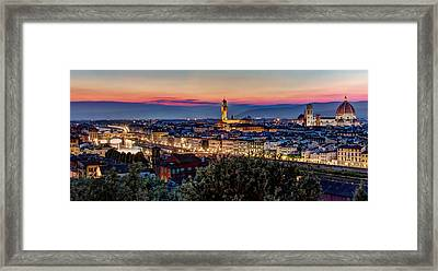 A View Of Florence Framed Print