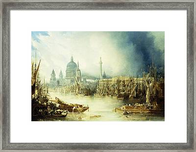 A View Of London Framed Print by John Gendall