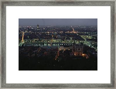 A View Of Lyon Between The Pont De La Framed Print by James L. Stanfield