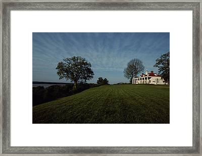A View Of Mount Vernon, The Home Framed Print by Medford Taylor