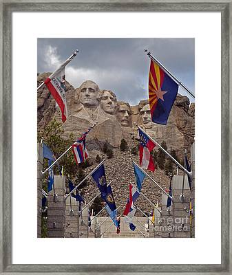 A View Of Mt. Rushmore Framed Print