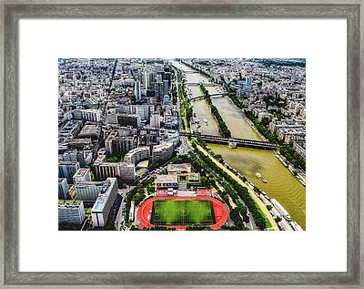 A View Of Paris Framed Print by Jace Grandinetti