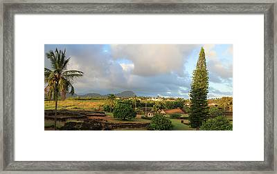 A View Of Prince Kuhio Park Framed Print by Bonnie Follett