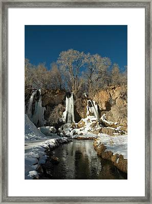 A View Of Rifle Falls Framed Print by Jeff Swan
