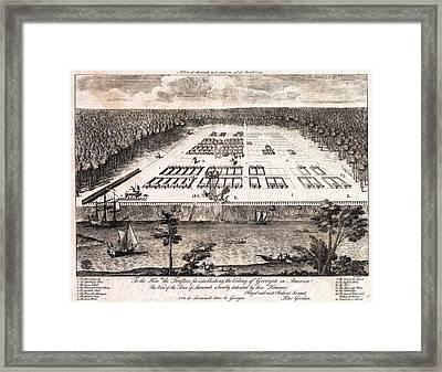 A View Of Savannah, Georgia As It Stood Framed Print