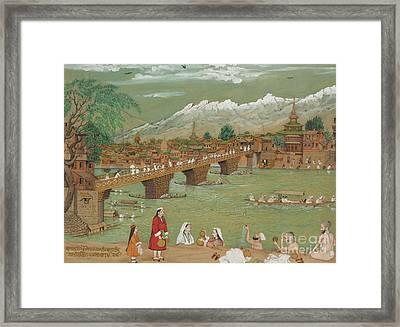 A View Of Srinagar, 1872 Framed Print
