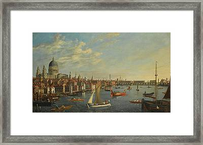 A View Of St Paul Framed Print by MotionAge Designs