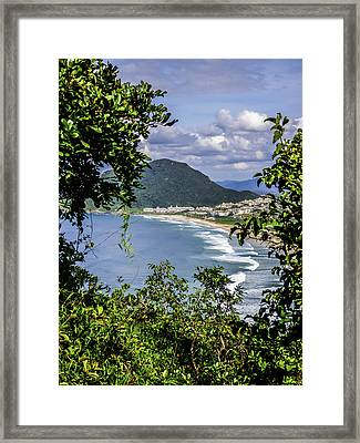 A View Of The Beach Framed Print