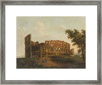 A View Of The Colosseum Framed Print