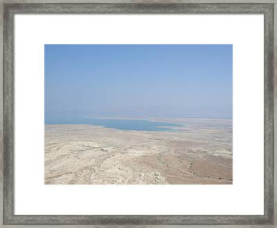 A View Of The Dead Sea From Masada Framed Print by Susan Heller