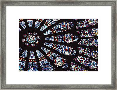 A View Of The Famed Rose Window Framed Print by Carsten Peter