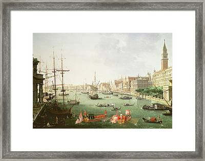 A View Of The Grand Canal Framed Print by Vincenzo Chilone