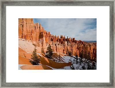 A View Of The Hoodoos And Other Eroded Framed Print by Taylor S. Kennedy