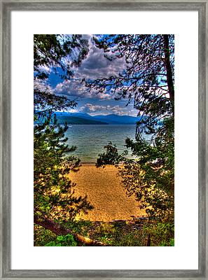 A View Of The Lake Framed Print by David Patterson