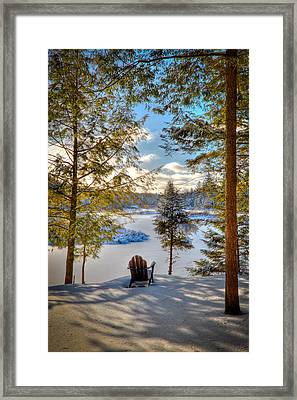 A View Of The Moose Framed Print