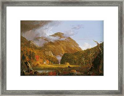 A View Of The Mountain Pass Called The Notch Of The White Mountains Framed Print by Thomas Cole