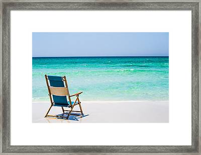 A View Of The Ocean Framed Print by Shelby  Young