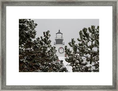 A View Of The Portland Head Light Framed Print