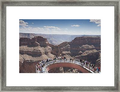 A View Of The Skywalk Over The Grand Framed Print by John Burcham