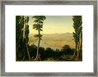 A View Of The Tiber And The Roman Campagna From Monte Mario Framed Print